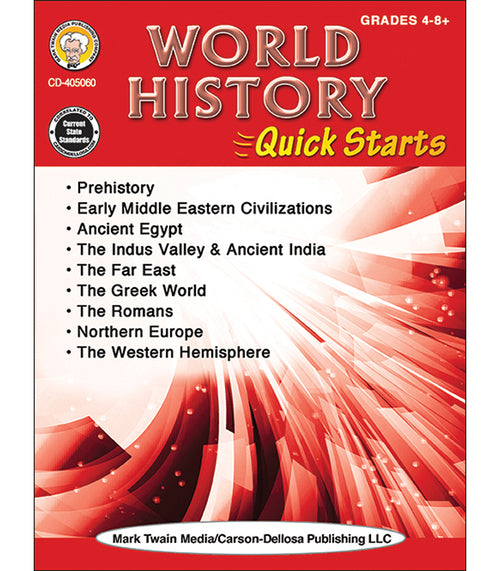 World History Quick Starts Workbook, Grades 4 - 12