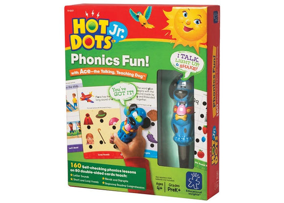 Hot Dots® Jr. Phonics Fun! Set with Ace—The Talking, Teaching Dog® Pen