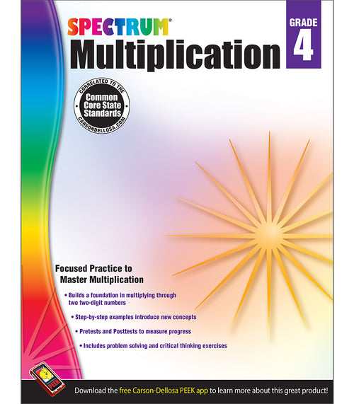 Multiplication Workbook, Grade 4
