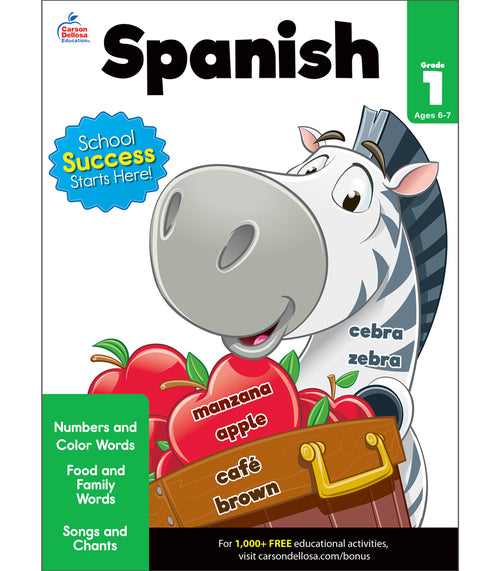 Spanish Workbook, Grade 1