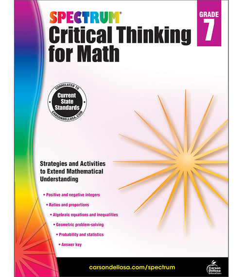 Spectrum Critical Thinking for Math, Grade 7