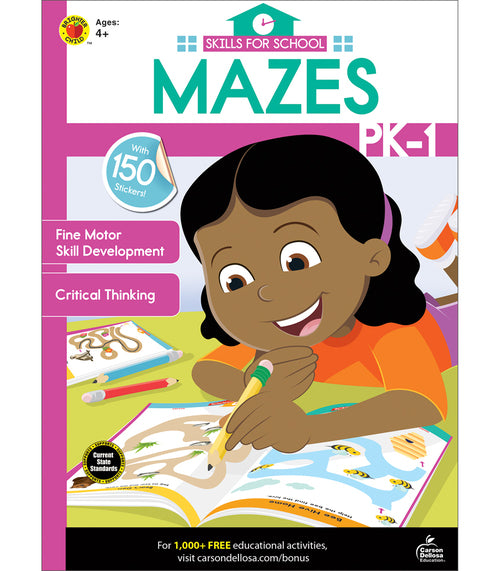 Skills for School Mazes, Grades PK - 1