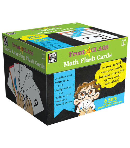 Math Flash Cards, Ages 4 - 8
