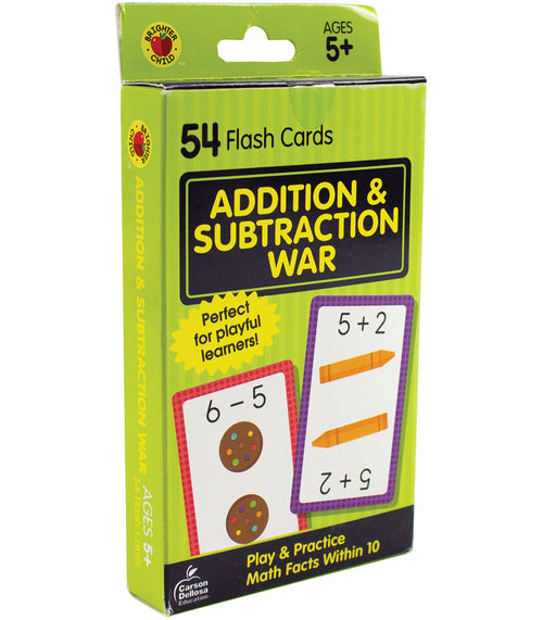 Addition & Subtraction War Flash Cards