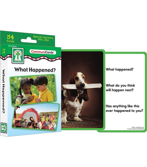 What Happened? Learning Cards