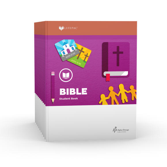 Lifepac Bible 2nd Grade Set of 10 LIFEPACs Only