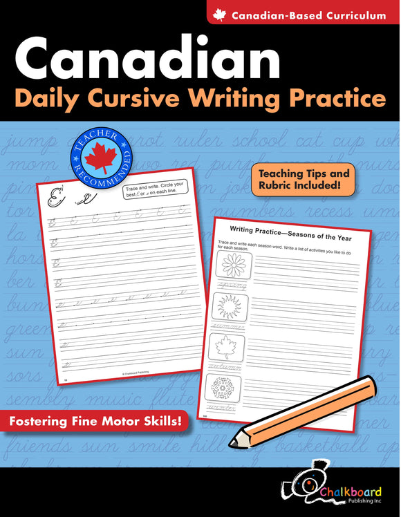 CANADIAN DAILY CURSIVE WRITING PRACTICE 2-4