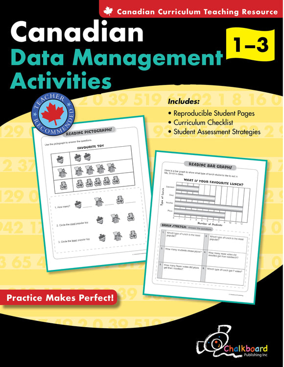 CANADIAN DATA MANAGEMENT ACTIVITIES GRADES 1-3