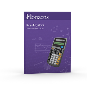 Pre-Algebra Student Tests and Resources Book