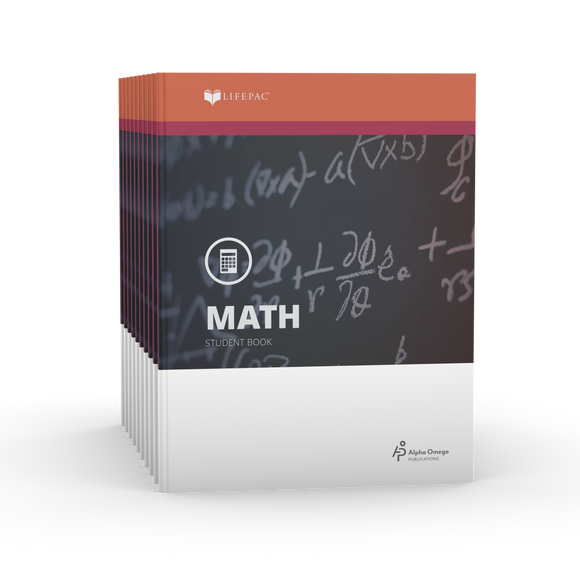 Lifepac Algebra II 11th Grade Set of 10 LIFEPACs Only