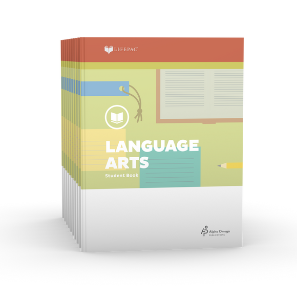Lifepac Language Arts 4th Grade Set of 10 LIFEPACs Only