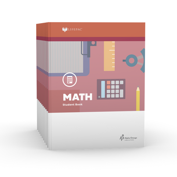 Lifepac Math 4th Grade Set of 10 LIFEPACs Only