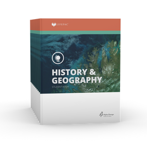 Lifepac History & Geography 8th Grade Set of 10 LIFEPACs Only