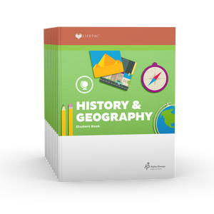 Lifepac History & Geography 1st Grade Set of 10 LIFEPACs Only
