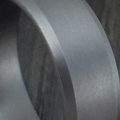Satin Finish Tantalum and Diamond Men's Wedding Band