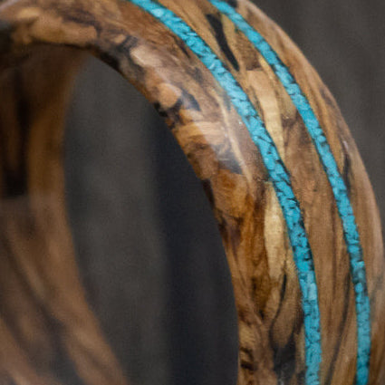 Titanium Men's Wedding Band Inlaid With Koa Hardwood