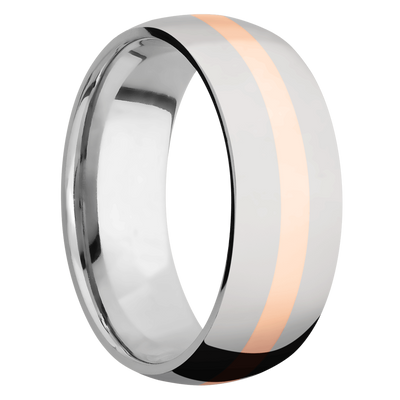 Ring with 14k Rose Gold Inlay