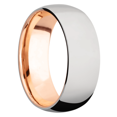 Ring with 14k Rose Gold Sleeve