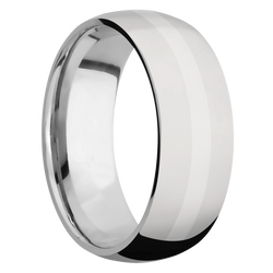 Ring with 14k White Gold Inlay
