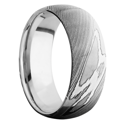 Ring with 14k White Gold Sleeve