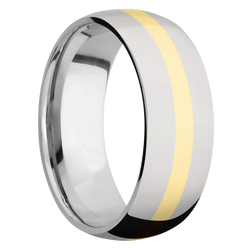 Ring with 14k Yellow Gold Inlay