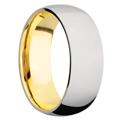 Ring with 14k Yellow Gold Sleeve