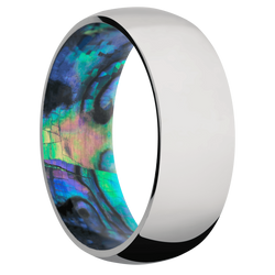 Ring with Abalone Sleeve