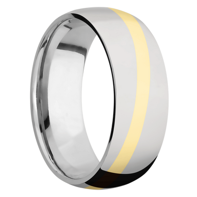 Ring with Angled Inlay
