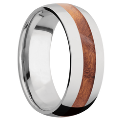 Ring with Asian Iron Wood Inlay