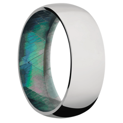 Ring with Black Mother of Pearl Sleeve