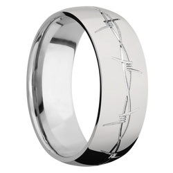 Ring with Barb Wire Pattern