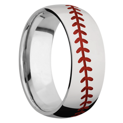 Ring with Baseball Pattern