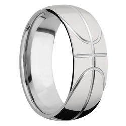 Ring with Basketball Pattern