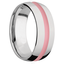 Ring with Bazooka Pink Cerakote Inlay