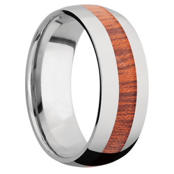 Ring with Blood Wood Inlay