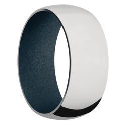 Ring with Blue Titanium Sleeve