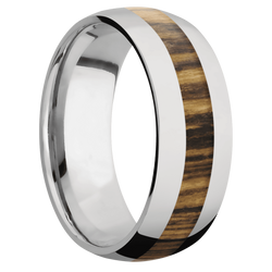 Ring with Bocote Inlay