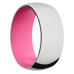 Ring with Bright Pink Sleeve