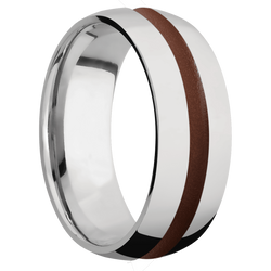 Ring with Brown Cerakote Inlay