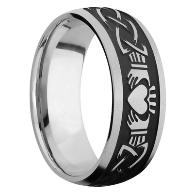 Ring with Claddagh Celtic Pattern