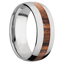 Ring with Cocobolo Inlay