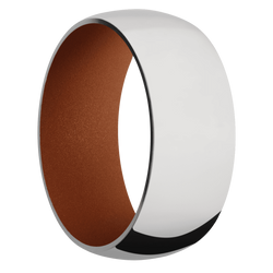 Ring with Copper Suede Sleeve