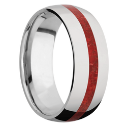 Ring with Coral Inlay