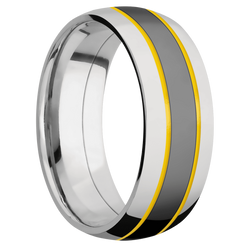 Ring with Corvette Yellow Cerakote Inlay