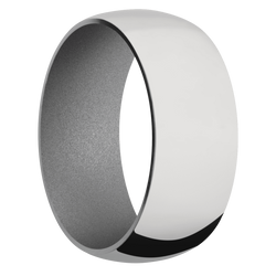 Ring with Crushed Silver Sleeve