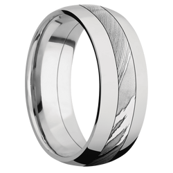 Polish Finish Damascus Steel Ring