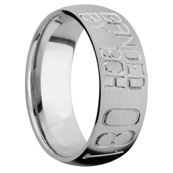 Ring with Duck Band Pattern