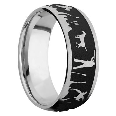 Ring with Duck Hunter Pattern
