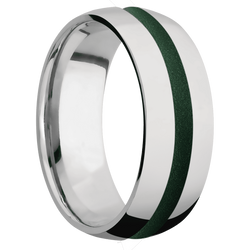 Ring with Eastern Green Cerakote Inlay