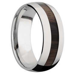 Ring with Ebony Inlay